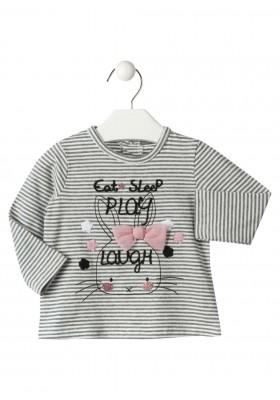 camiseta manga larga con estampado LOSAN de bebe niña modelo 928-1008AA