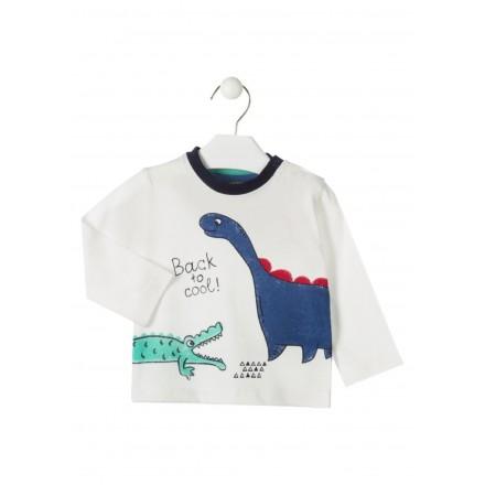 camiseta manga larga con estampado LOSAN de bebe niño modelo 927-1013AA