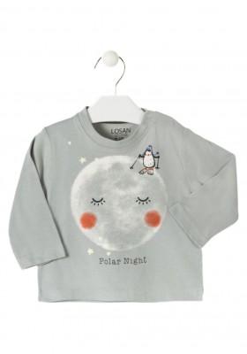 camiseta manga larga con estampado LOSAN de bebe niño modelo 927-1011AA