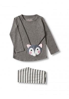 conjunto camiseta y legging LOSAN de niña modelo 926-8006AA