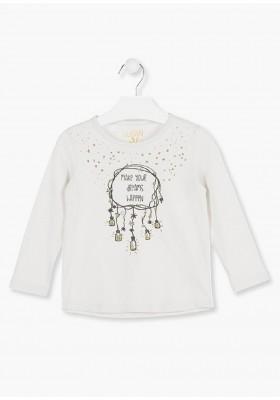 camiseta manga larga con print delantero LOSAN de niña modelo 926-1205AA