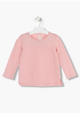 camiseta de manga larga con print LOSAN de niña modelo 926-1203AA