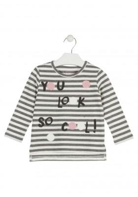 camiseta de manga larga de rayas LOSAN de niña modelo 926-1007AA