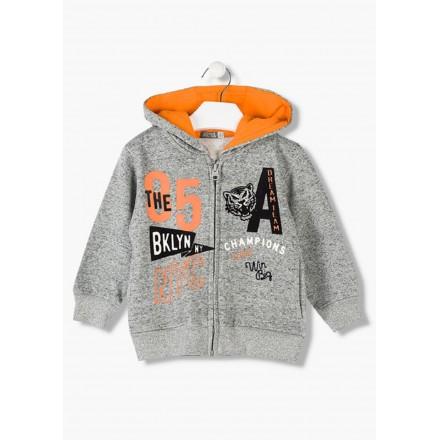 chaqueta de felpa perchada con capucha LOSAN de niño modelo 925-6659AA