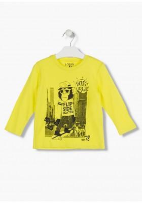 camiseta de manga larga en punto liso LOSAN de niño modelo 925-1201AA