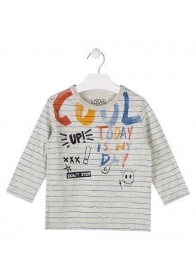 camiseta manga larga en punto liso LOSAN de niño modelo 925-1022AA