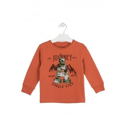 camiseta con bordado de rizo LOSAN de niño modelo 925-1011AA