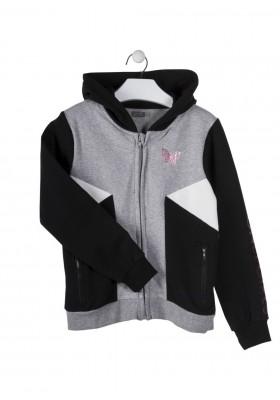 chaqueta de felpa perchada con capucha LOSAN de niña modelo 924-6015AA