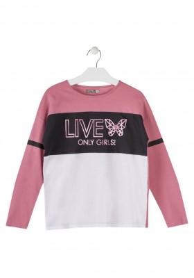 camiseta manga larga con print delantero LOSAN de niña modelo 924-1026AA