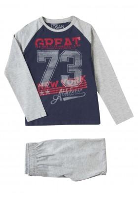 pijama de punto liso LOSAN de niño modelo 923-P002AA