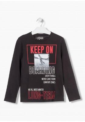 camiseta de manga larga en punto liso LOSAN de niño modelo 923-1202AA