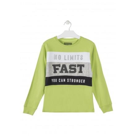 camiseta de manga larga en punto liso LOSAN de niño modelo 923-1014AA