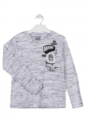 camiseta de manga larga con prints LOSAN de niño modelo 923-1007AA