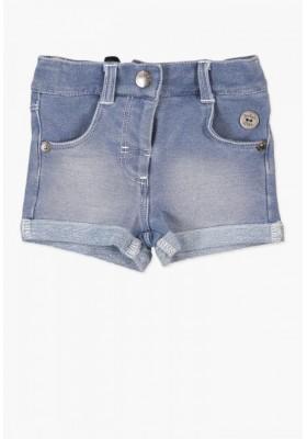 Pantalón corto BOBOLI bebe niña felpa denim
