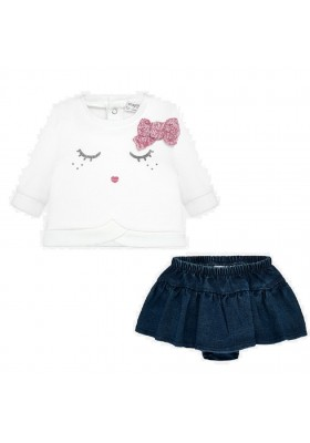 Conjunto falda tejana de MAYORAL para bebe niña modelo 2836