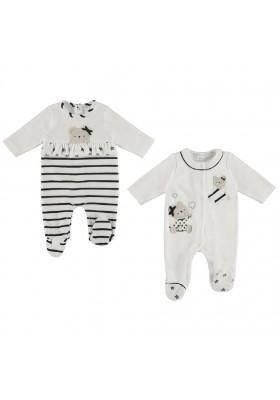 Set 2 pijamas tundosado de MAYORAL para bebe niña modelo 2711