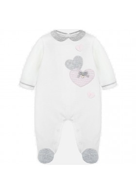 Pijama aplique corazon de MAYORAL para bebe niña modelo 2703