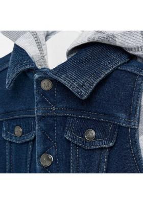 Cazadora combinada punto denim de MAYORAL para bebe niño modelo 2415
