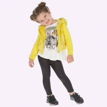 Leggings antelina brillo de Mayoral para niña modelo 4704