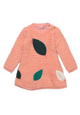 Vestido tricotosa de bebé niña BOBOLI modelo 208101