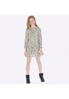 Vestido gasa estampada de Mayoral para niña modelo 7931