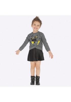 Vestido combinado plisado de Mayoral para niña modelo 4941