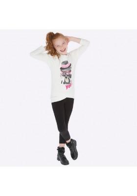 Conjunto leggings felpa antelina de Mayoral para niña modelo 7708
