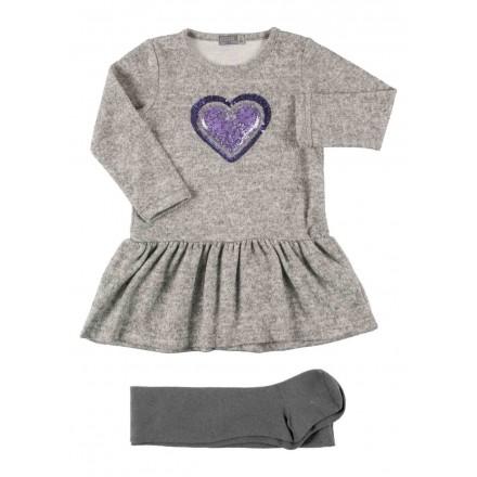 conjunto de vestido y tights LOSAN de niña modelo 926-8045AA
