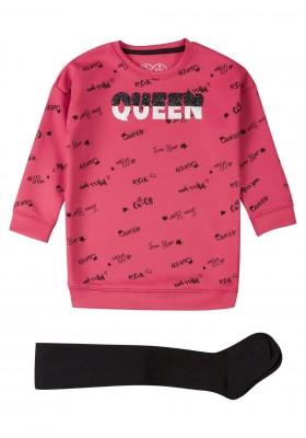 conjunto de vestido y tights LOSAN de niña modelo 926-8043AA
