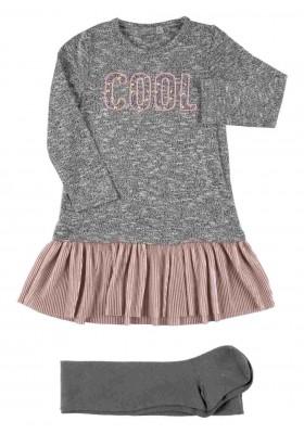 conjunto de vestido y leotardo LOSAN de niña modelo 926-8035AA
