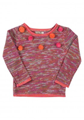 jersey de tricotosa multicolor LOSAN de niña modelo 926-5005AA