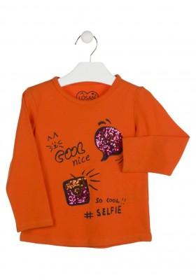 camiseta de manga larga con lentejuelas LOSAN de niña modelo 926-1026AA