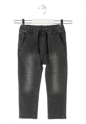 pantalon felpa no perchada efecto denim LOSAN de niño modelo 925-6032AA