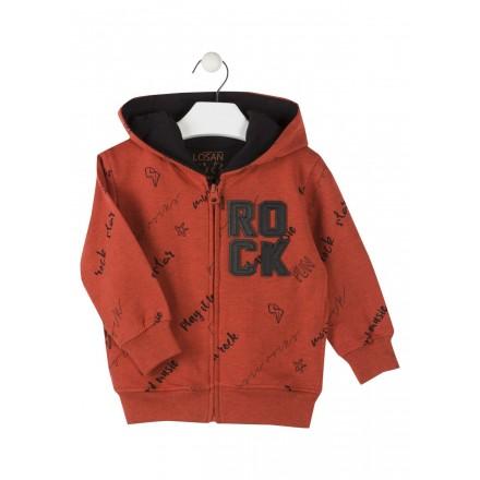 chaqueta de felpa perchada con capucha LOSAN de niño modelo 925-6005AA