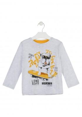 camiseta de manga larga con print LOSAN de niño modelo 925-1007AA