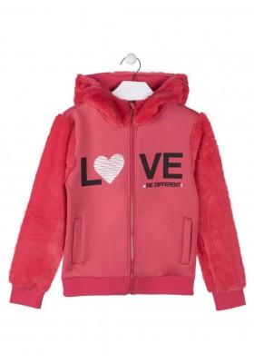 chaqueta interlock con perlo LOSAN de niña modelo 924-6024AA