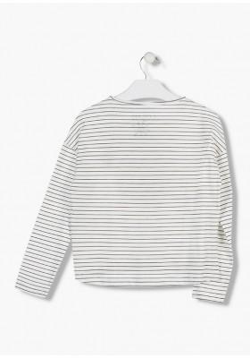 camiseta de manga larga en punto liso LOSAN de niña modelo 924-1201AA