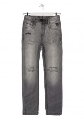 pantalon de punto efecto denim LOSAN de niño modelo 923-6012AA
