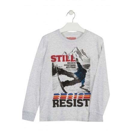 camiseta de manga larga en punto liso LOSAN de niño modelo 923-1021AA