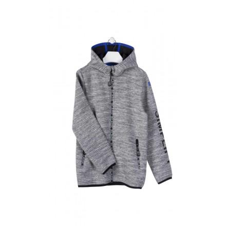 chaqueta de felpa tecnica con capucha LOSAN de niño modelo 923-0001AA