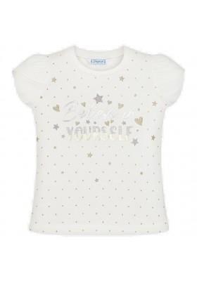 Camiseta manga corta estrellas de MAYORAL para niña modelo 3009