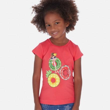 Camiseta manga corta serigrafia de MAYORAL para niña modelo 3017