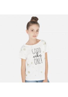 Camiseta manga corta topos de MAYORAL para niña modelo 6008