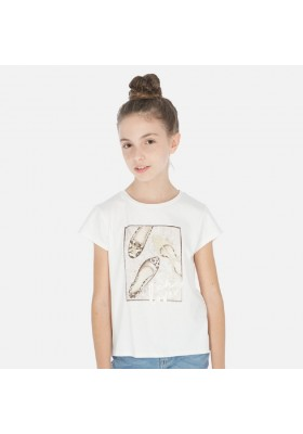Camiseta manga corta zapatos de MAYORAL para niña modelo 6011