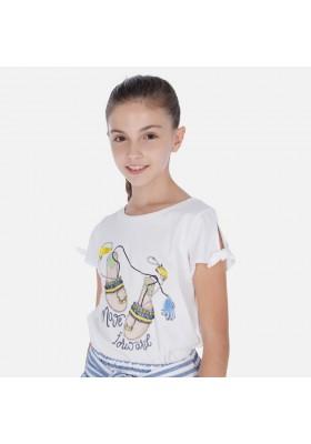 Camiseta manga corta sandalias de MAYORAL para niña modelo 6018