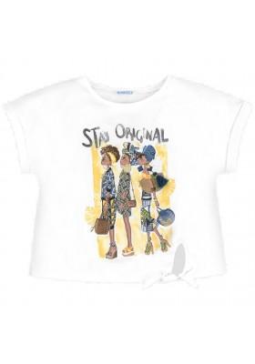 Camiseta manga corta nudo niñas de MAYORAL para niña modelo 6020