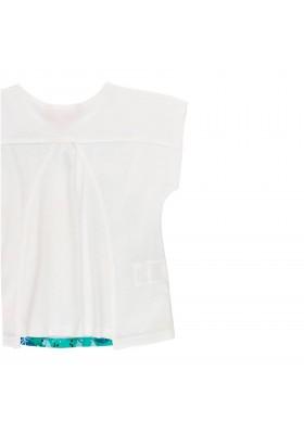 Camiseta manga corta punto flamé de niña BOBOLI modelo 439062