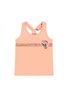 Camiseta manga corta punto flamé de niña BOBOLI modelo 469166