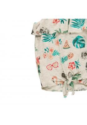 Camiseta manga corta punto flamé de niña BOBOLI modelo 469155