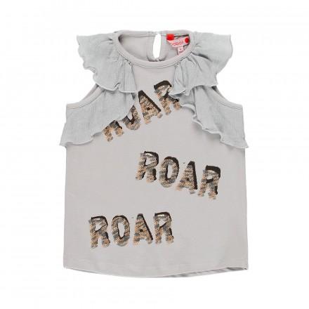 Camiseta manga corta punto elástico de niña BOBOLI modelo 449052